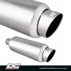 DC Sport Stainless Steel Muffler and Slant Cut Exhaust Tip (Round)