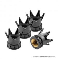 Crown Air Valve Caps (Black)