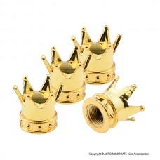 Crown Air Valve Caps (Gold)