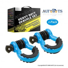 "AUTOBOTS D Ring Shackles 3/4"", Light Blue (2 pack)"