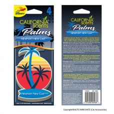 California Scents Hanging Palms Air Freshener, Newport New Car (4 Count)