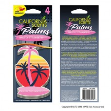 California Scents Hanging Palms Air Freshener, Shasta Strawberry (4 Count)