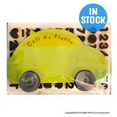 DIY Felt Telephone Number Plate (FELT-Car)