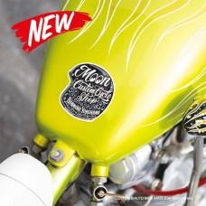 MOON Custom Cycle Shop Motorcycle Helmet Sticker