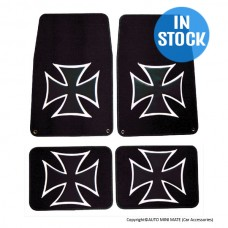 Iron Cross Floor Mat Set